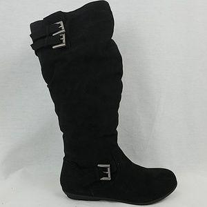 Rampage Cyrene Fabric Round Toe Knee High Boots